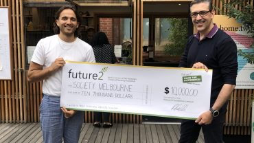 Society Melbourne presented with Future2 Make the Difference grant cheque