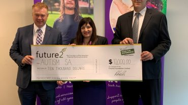 Autism SA received grant cheque